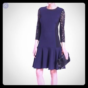 Rebecca Taylor Ponte Drop Waist Dress